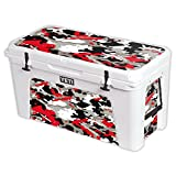 MightySkins Protective Vinyl Skin Decal for YETI Tundra 125 qt Cooler wrap Cover Sticker Skins Red Camo