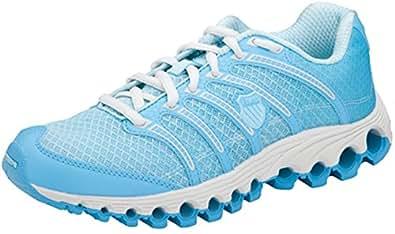 K-Swiss TUBESRUN Women's Athletic Shoe Clearwater/Aquarius Line Fade 6 M US