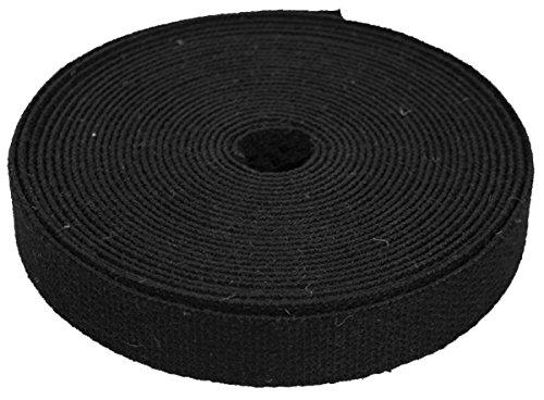 1 Inch Wide Black Hemp Canvas Webbing - 25 Meter Roll by Hemptopia