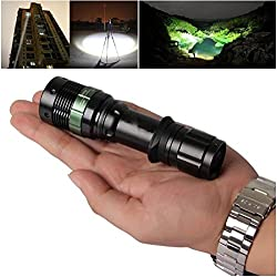 1Pcs Wonderful Popular 3000 Lumen LED Flashlight Light Adjustable Focus Aluminum Alloy Zoom Lamp Color Black
