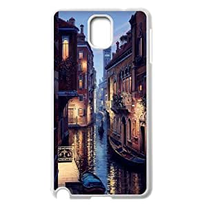 Samsung Galaxy Note 3 Case, Ride on the Little Boat Along Venice Grand Canal Case for Samsung Galaxy Note 3 {White}