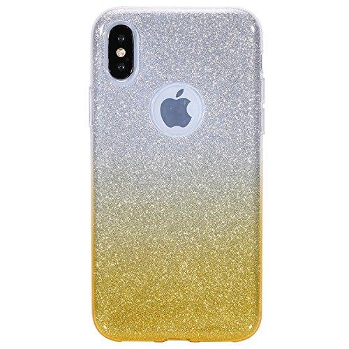 coque iphone x rouge paillette