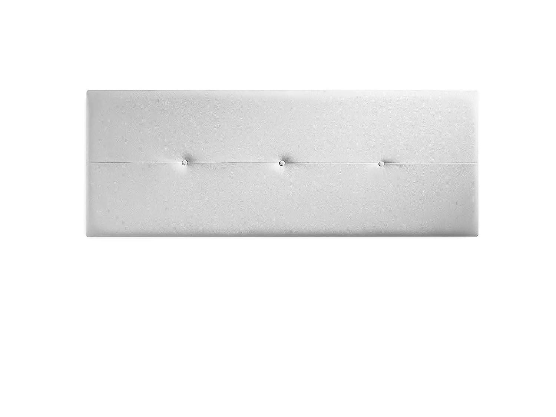 Marckonfort Testiera di Pelle Sintetica Rombo 150X60 Bianco