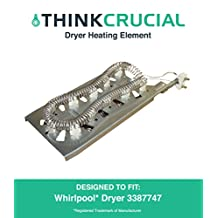 Dryer Heating Element fits Whirlpool & Kenmore 3387747, 8527865, AP2947033 & PS344597, Designed & Engineered by Think Crucial