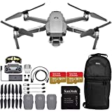 """DJI Mavic 2 Pro Drone Quadcopter with Hasselblad Camera Adjustable Aperture 20MP 1"""" CMOS Sensor and 2X SanDisk Extreme 64GB MicroSDXC UHS-I Card (3X Battery)"""