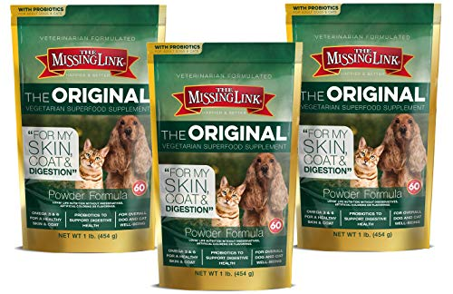 The Missing Link Well Blend Food Sensitive Skin, Coat and More Nutritional Supplement for Dogs and Cats - 1-Lb Bag (3 Pack)