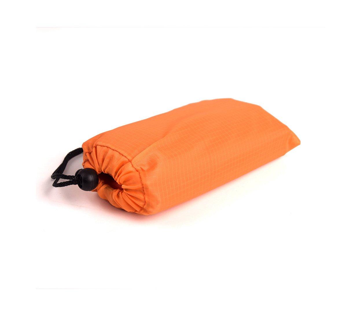 Wenosda Pocket Beach Blanket Tragbare Camping Gras Matte Wasserdicht mit Anker f/ür Outdoor-Reisen Wandern Picknick etc Orange, 140X200 cm // 55X78,7