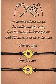 Starchenie Pinky Promise Bracelets Family Distance Matching Friendship BFF Best Friend Bracelets for 2 Couple
