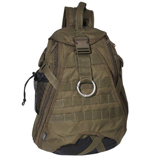 Everest Luggage Sporty Hydration Sling Bag, Olive/Black, Olive, One Size