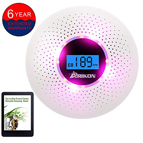 - Smoke and Carbon Monoxide Detector Combo, with Sound Warning and Number Display Battery Powered Smoke CO Alarm Detector