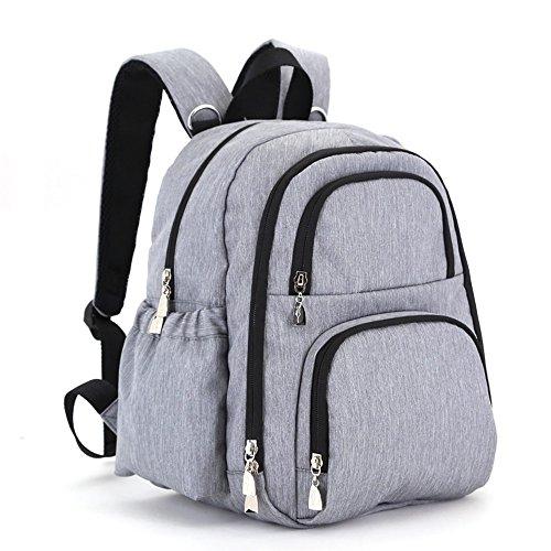 Bolsa de la momia, bolso de hombro, de gran capacidad de múltiples funciones bolso de la madre de la moda, bolsa de la madre y el bebé, salir a producir mochila ( Color : Gris ) Gris