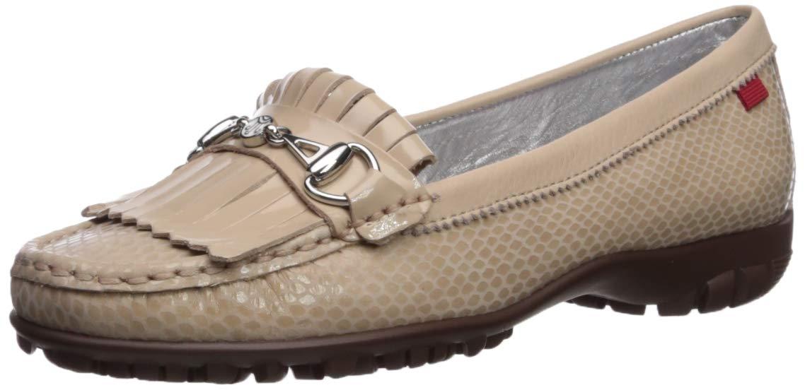 MARC JOSEPH NEW YORK Womens Leather Made in Brazil Lexington Golf Shoe, Blush Snake, 7 M US by MARC JOSEPH NEW YORK