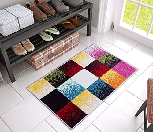 Well Woven VI180-3 Viva Gateway Modern Bright Squares Geometric Accent Area Rug 2' x 3' Mat, Multi