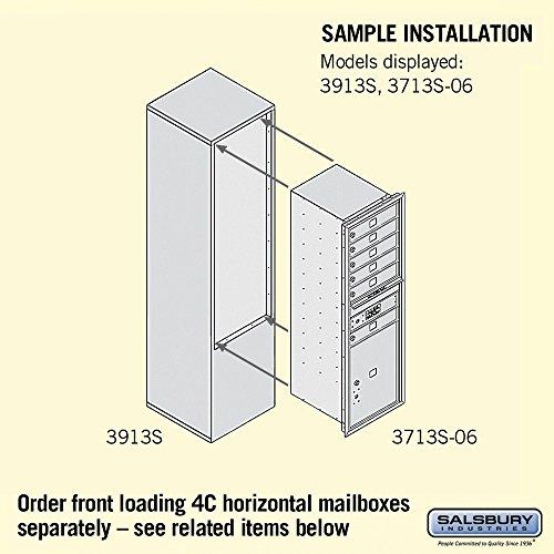 Salsbury Industries 3913S-BRZ Free-Standing Enclosure for 3713 Single Column, Bronze