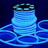 DELight 150ft Flex Blue LED Neon Rope Tube Light 3600 Bulbs w/ UL Listed & CE Certifications for Décor Commercial Home Indoor Outdoor Holiday Valentines Parties Lighting