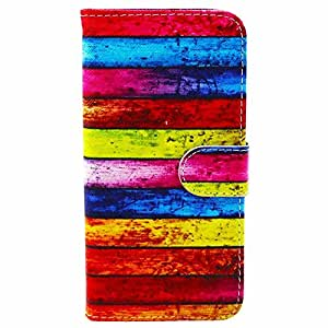 Highsound Rainbow Stripe Flip Silicon Cover for Apple iPhone 6 5.5""
