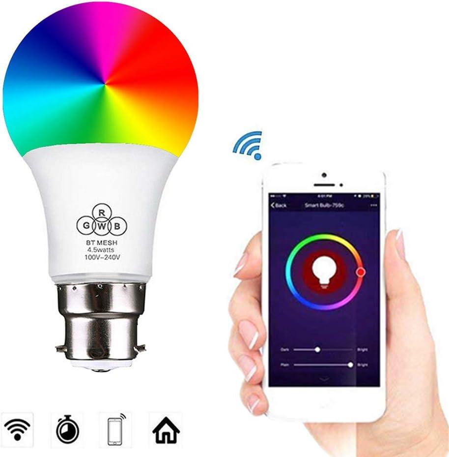 2Pcs WiFi Smart Scène Ampoule DEL dimmable travailler avec Google Accueil Amazon Alexa