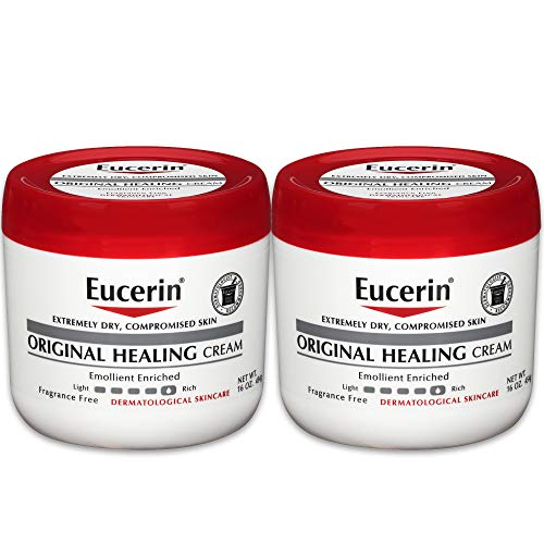 (Eucerin Original Healing Cream - Fragrance Free, Rich Lotion for Extremely Dry Skin - 16 oz. Jar (Pack of 2))