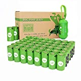 PET N PET 48 Rolls/720 Counts Environmental Friendly Dog Poop Bags Doggie Bags for Poop Unscented with One Dispenser, Standard and EPI Additive (720 Counts Green + 1 Dispenser)
