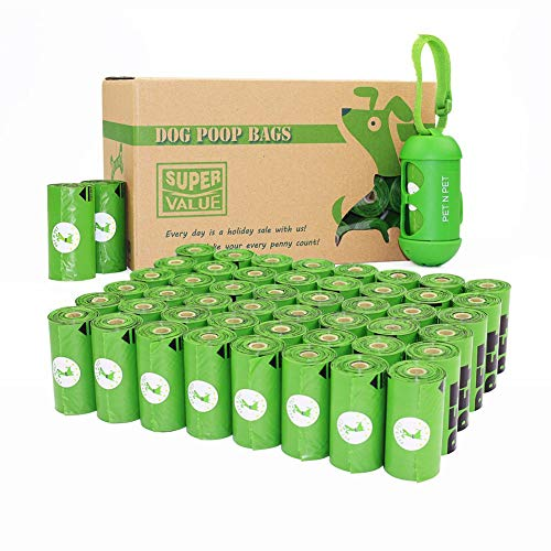 PET N PET Poop Bags 720 Green Earth-Friendly Dog Poop Bags Refill Rolls With 1 Free Biobased Poop Bag Dispenser Large…