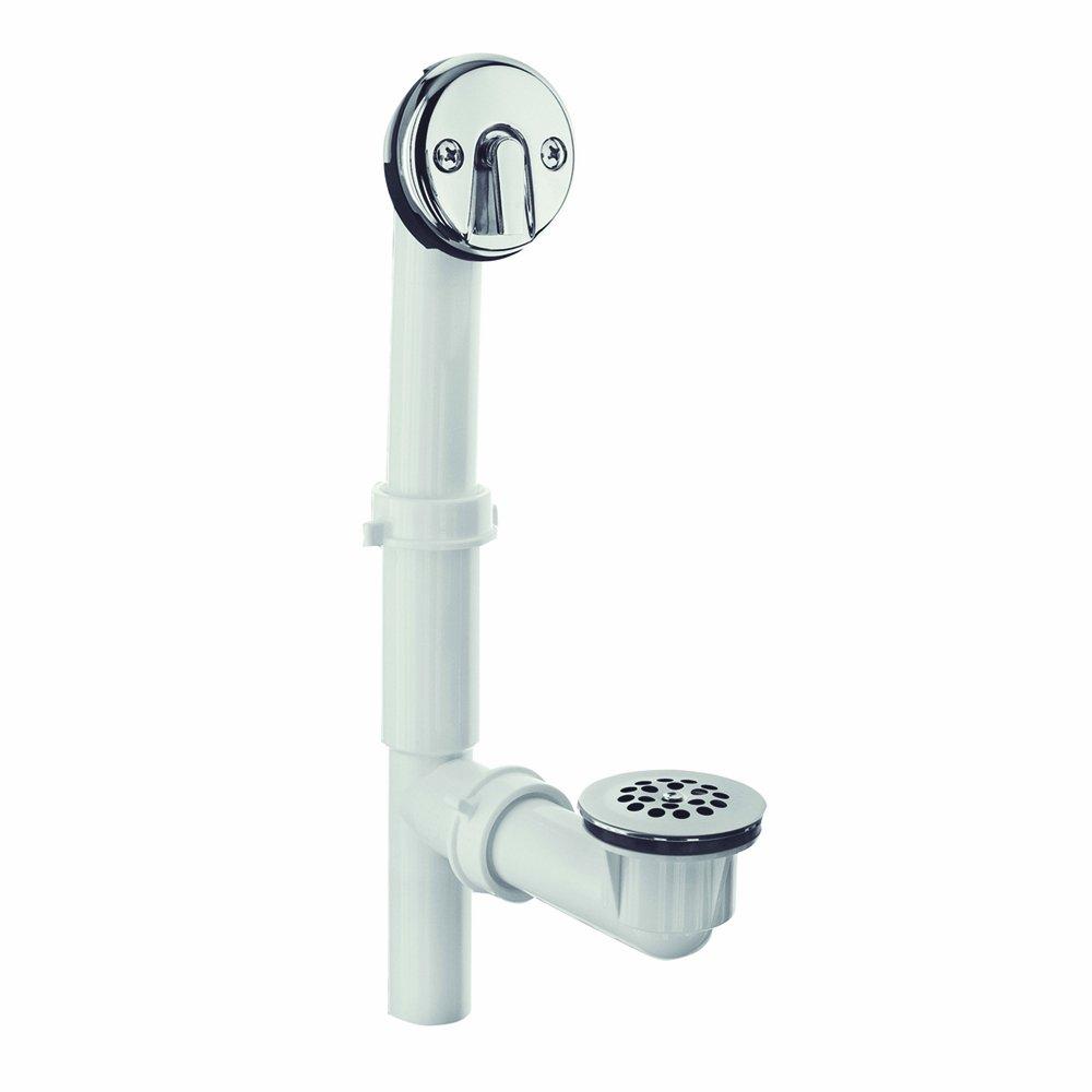 DANCO All-Inclusive Trip-Lever Style Tub Drain, Chrome, 1-Pack (51932)