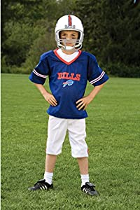 Franklin Sports Buffalo Bills Kids Football Uniform Set - NFL Youth Football Costume for Boys & Girls - Set Includes Helmet, Jersey & Pants - Large