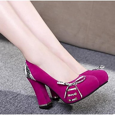 LvYuan-ggx High Damen High LvYuan-ggx Heels Komfort Nubukleder PU Frühling Normal Komfort Schwarz Rot Blau 10 - 12 cm Blau 142967