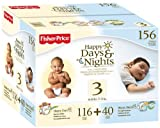 Fisher Price Happy Day and Night Baby Diapers Size 3, 156 Count, Baby & Kids Zone