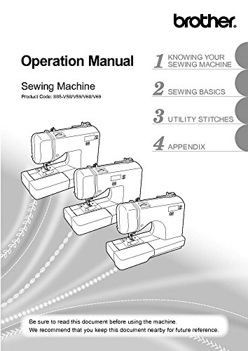 Brother SQ9185 Sewing Machine Owners Instruction Manual [Plastic Comb] There and Back