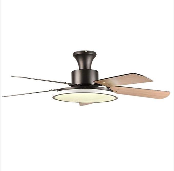 IV-ydzxx Ventilador De Techo Moderno De Perfil Bajo con Luz LED Regulable A Distancia, Adecuado para Instalar En Su Sala De Estar, Dormitorio, Patio De La Villa, Oficina Loft,C: Amazon.es: Hogar