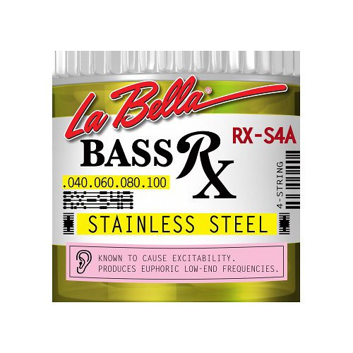 LaBella RX-S4A Bass Rx Stainless Steel Strings, - Rx General