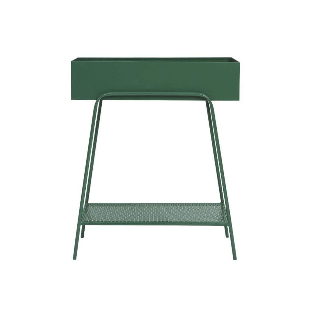 acquisti online Khkfg Moderno Doppio Fiore Fiore Fiore di Ferro Stand, Studio Magazine Mensola per Esterni Patio Home Decor 23.8  11.0  28.5in (colore   verde)  sconto online