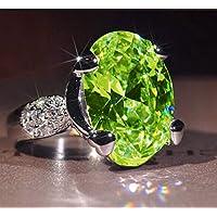Fashion Green Peridot Birthstone 925 Silver Filled Wedding Bridal Ring Gift by pho (10)