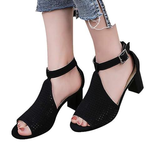 cf7440ead22 Amazon.com: Women Fashion Gladiator Sandals Ankle Strap Chunky ...