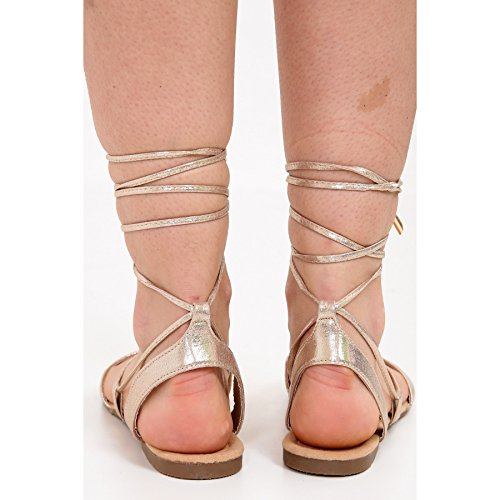 Chaussure Momo À 8 Taille Peep Ayat Gladiator 42 Or 3 Dames Fashions Eu De Bout Scintillent 36 amp; Sandales Moulantes fzqfF