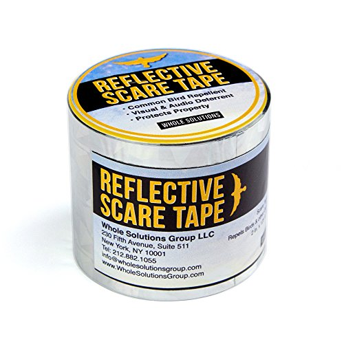 Mylar Streamer - Whole Solutions Group Best Gardening Secret Bird and Animal Repellent Scare Birds Away Replace Your Scarecrow with Our Highly Effective Scare Tape 125 Foot Roll