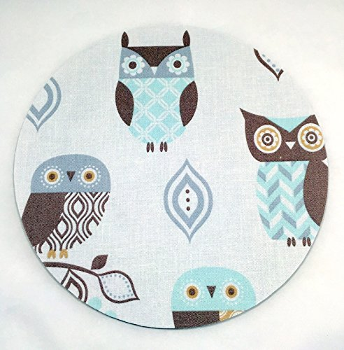 Merveilleux Owls Mouse Pad / Fabric Covered / Office Supplies / Home Office / Decor /  Desk