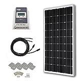 HQST 100 Watts 12 Volts Monocrystalline Slim Solar Panel...