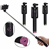 Mairte Foldable Wireless All-in-one Monopod Selfie Stick, Smart Shooting Aid,PINK
