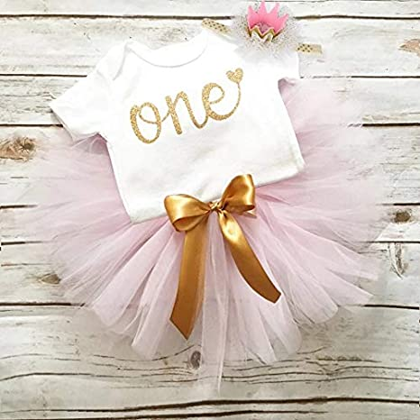 Little Beauty Princess Unicorn Child Outfit First Birthday Baby Girl 3 Pieces 1 Year