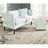 Safavieh Home Collection Sarah Powder Blue and Espresso Sette
