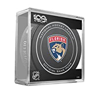 Florida Panthers NHL Official Game Puck In Cube