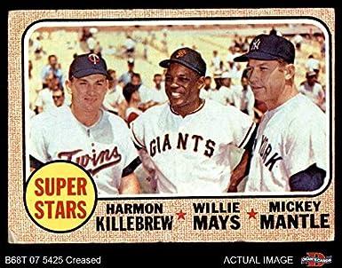 Amazoncom 1968 Topps 490 Super Stars Mickey Mantle