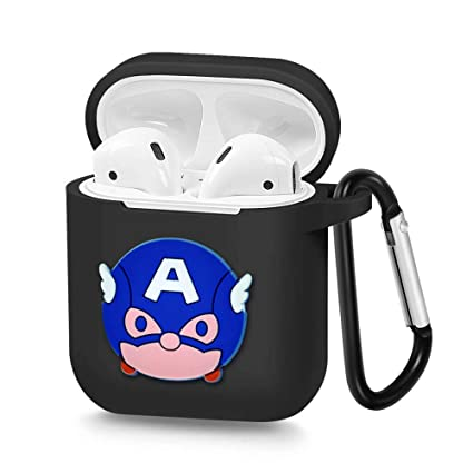 Airpods Case Spider Man Accessories Silicon Protective Charging Case with Carabiner X.M Compatible with Apple Airpods 1 /& 2