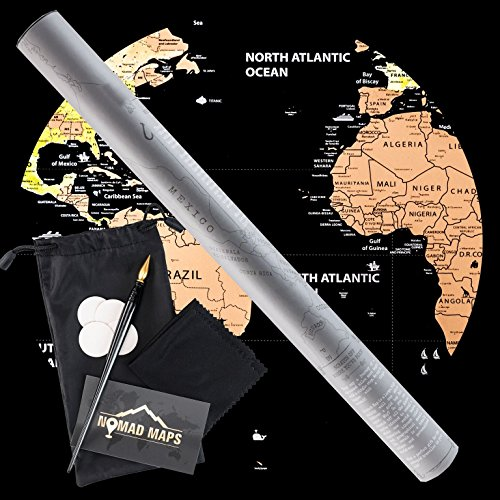 Hot sale nomad maps scratch off world map poster detailed with us hot sale nomad maps scratch off world map poster detailed with us states and includes gumiabroncs Image collections
