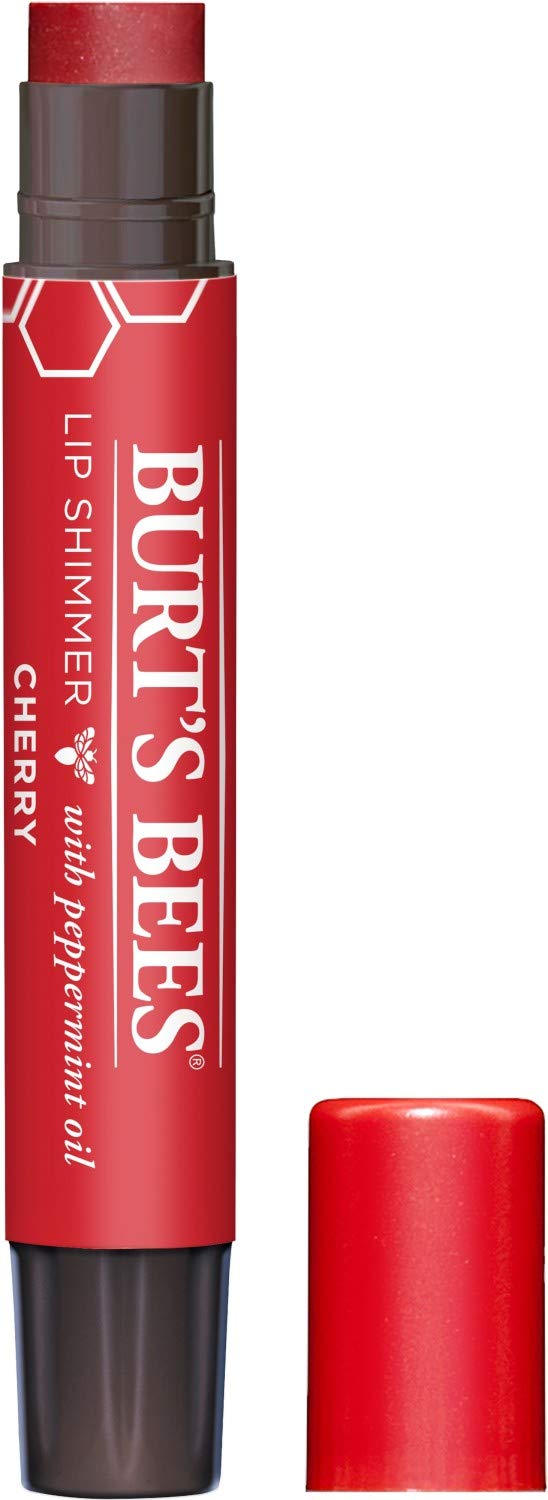Burt's Bees 100% Natural Moisturizing Lip Shimmer, Cherry - 1 Tube