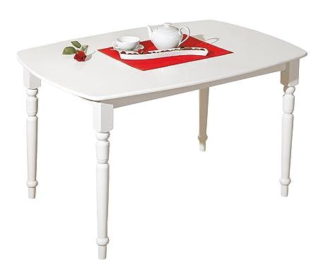 Tavolo Bianco Stile Provenzale.Links Tavolo Bianco Stile Provenzale In Legno Massello Amazon
