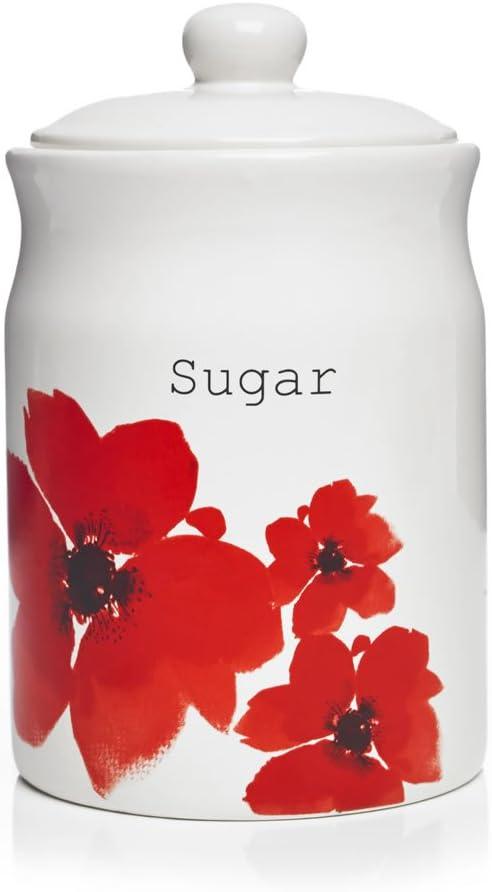 Poppy Fields Sugar Canister