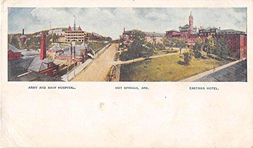 - Hot Springs Arkansas Army and Navy Hospital Eastman Hotel Postcard J51850