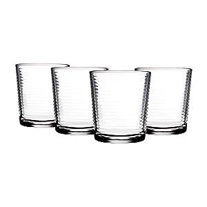 Home Essentials Solar 13oz DOF Glass, Set of 4